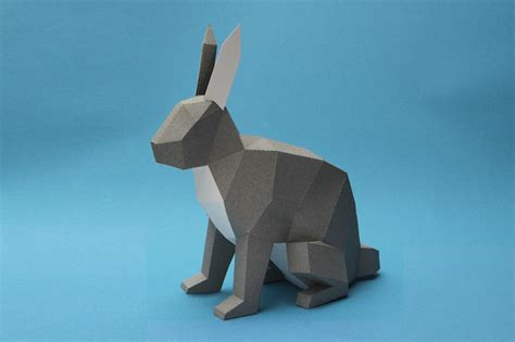 How To Make 3d Paper Animals - geometric 3d animal sculputres made from paper by estudio