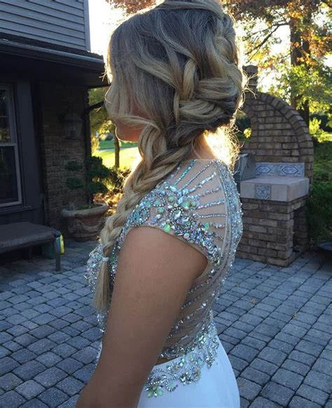 briads for hair above shoulders beautiful side braid for homecoming or prom homecoming