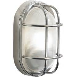 Polished Nickel Sconce Lighting Dar Lighting Salcombe Large Oval Stainless Steel Outdoor