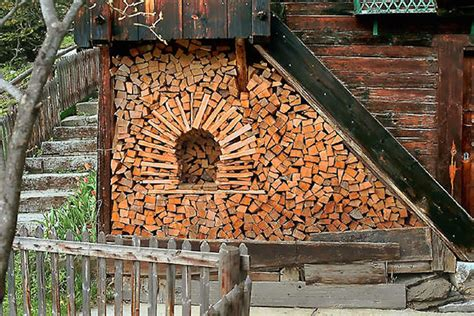How To Stack Wood In Fireplace by These Turned Log Piling Into An Form