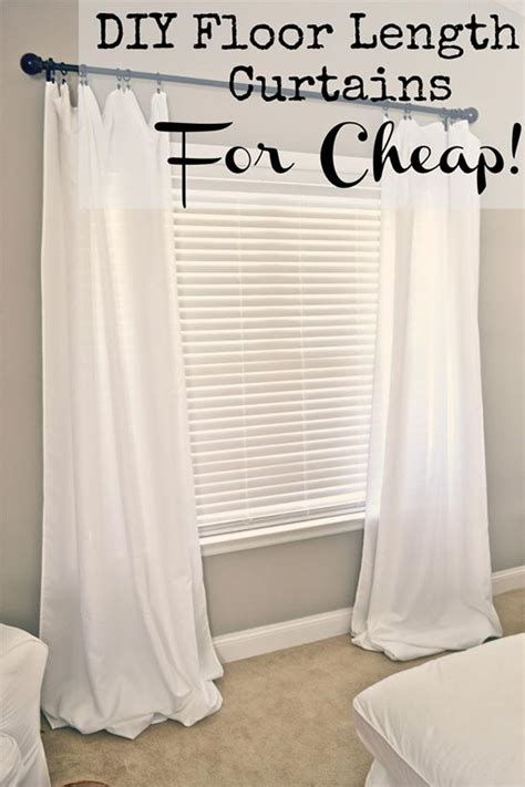 curtains on a budget homemade floor length curtains on a budget