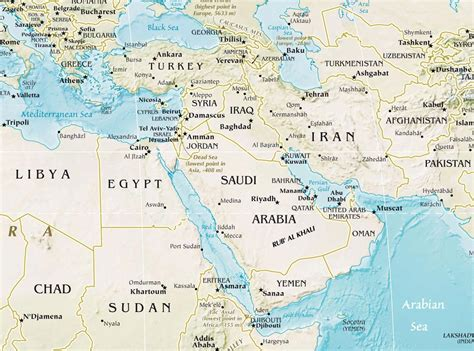 physical map of the middle east middle east physical mapsof net
