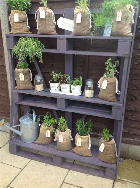 garden shelves from pallets pallets garden