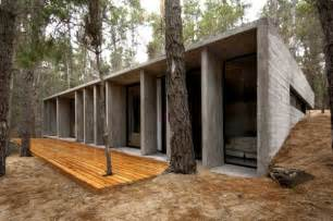 Concrete Block Home Designs Concrete House In Mar Azul Forest Argentina