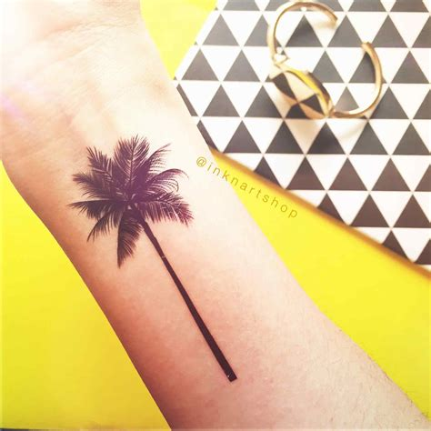 tattoo sizes palm tree in 2 sizes arms and tatting