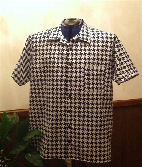 Houndstooth Shirt custom made houndstooth sleeve shirt by gabbigirlz