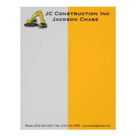 construction letterhead templates construction letterhead custom construction letterhead