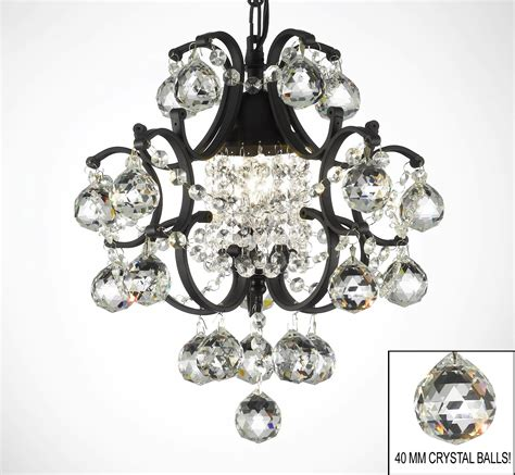 G7 B6 592 1 Wrought With Crystal Wrought Iron Crystal Black Iron Chandelier With Crystals