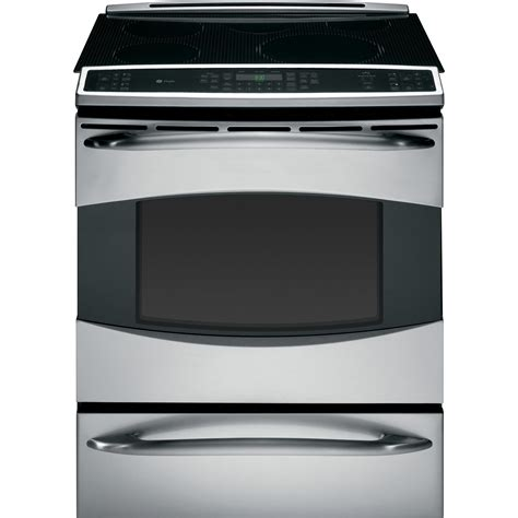 electric induction oven range ge profile phs925stss profile series 30 quot slide in induction range stainless steel sears