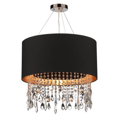 Black Pendant Lighting Circular Black Faux Silk Pendant Light Shade On Wires