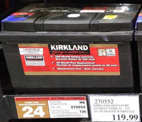 kirkland auto batteries costco page  redflagdealscom forums