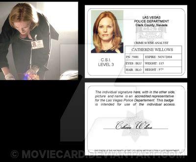 csi las vegas card willows catherine by moviecard on