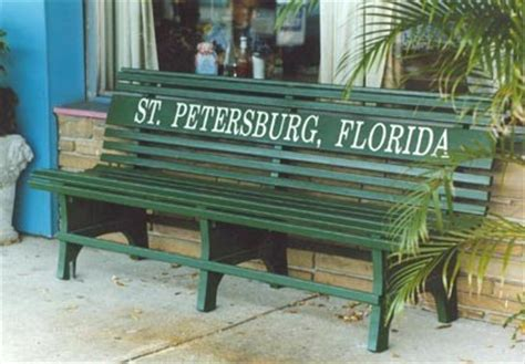 st petersburg green benches st petebasics gregandjoanna