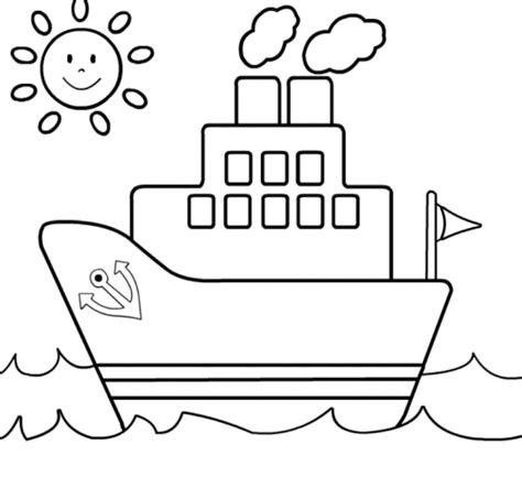 boat coloring pages for toddlers boat coloring pages free for kids coloringstar