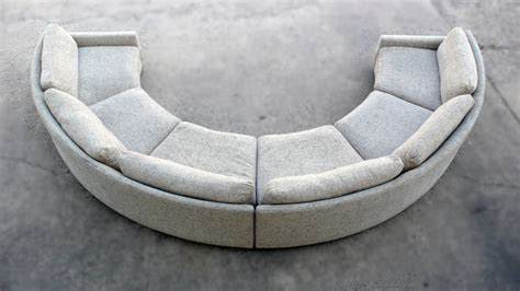 semi circle loveseat milo baughman semi circular party sofa at 1stdibs