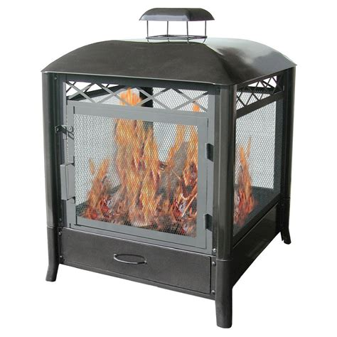 Landmann 28107 Aspen Outdoor Fireplace Black 715117281074 Outdoor Fireplace Prices