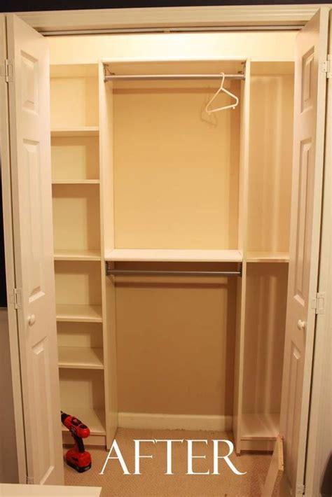 small closet hacks our under 100 closet system ikea hack small closets