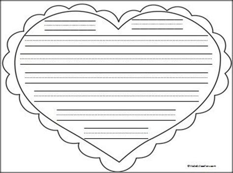 this is heart writing paper with print practice lines