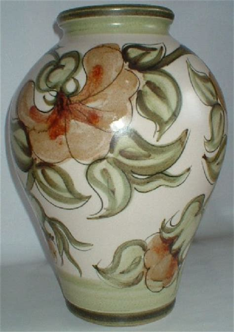 Langley Pottery Vase by Langley Pottery Magnolia Pattern Vase Designed By Glyn