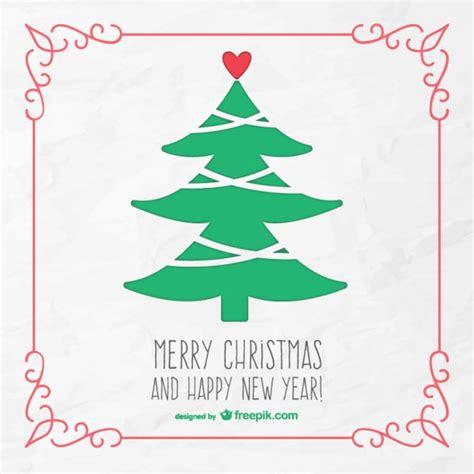 tarjeta de feliz navidad con 225 rbol vintage descargar