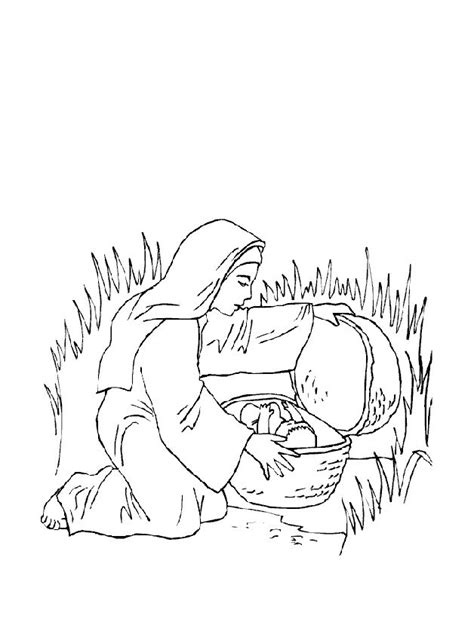 coloring page of baby moses baby moses coloring pages coloring home
