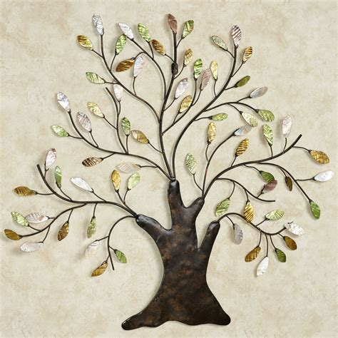 shimmering tree metal wall art sculpture