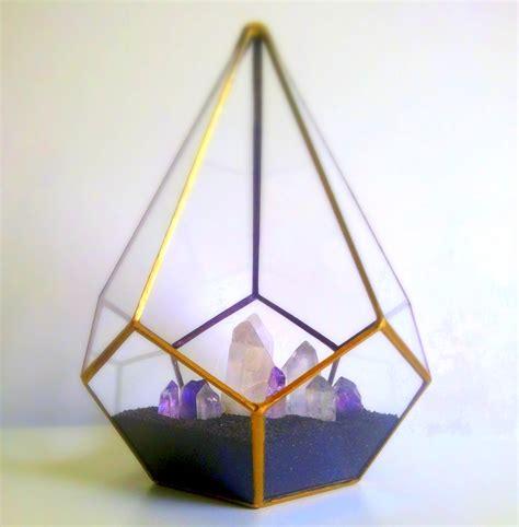 Hand Painted Decorative Furniture by Gold Teardrop Terrarium Crystal Garden Geometric Decor