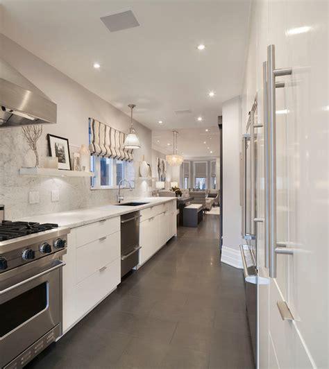 White Galley Kitchen Ideas Galley Kitchen Ideas Contemporary Kitchen Ruby Photo