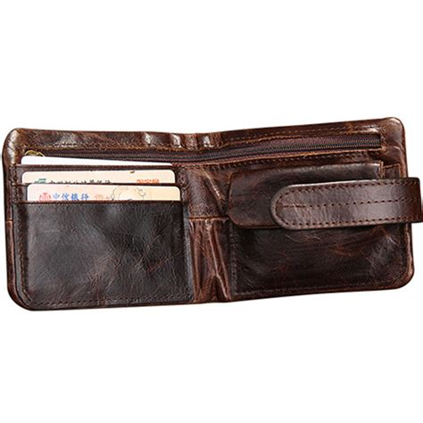 Best Quality Syari Vintage 100 genuine leather wallets top quality vintage style hasp purse with coin pocket mens