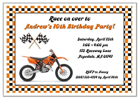 Dirt Bike Birthday Party Invitations Dolanpedia Invitations Template Motorcycle Birthday Invitation Templates