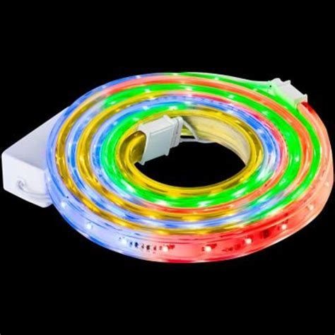 Led Rope Light Home Depot by Lightshow 108 Light Led Multi Color Ribbon Lights 87081