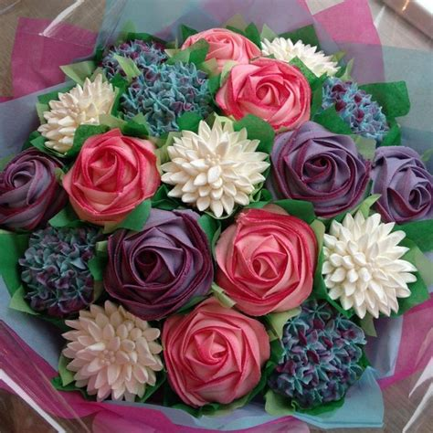 cupcake flower arrangements 341 best cupcake bouquets images on pinterest conch