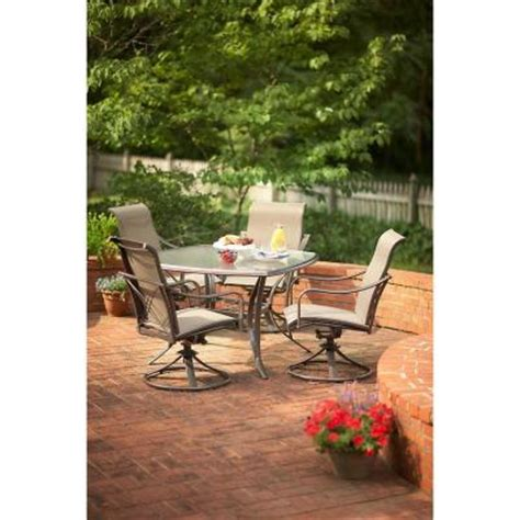 Martha Stewart Patio Dining Set Martha Stewart Living Grand Bank 5 Patio Dining Set D4067 5pc The Home Depot