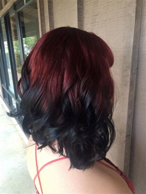 to black ombre on hair fashion color by cheyenne