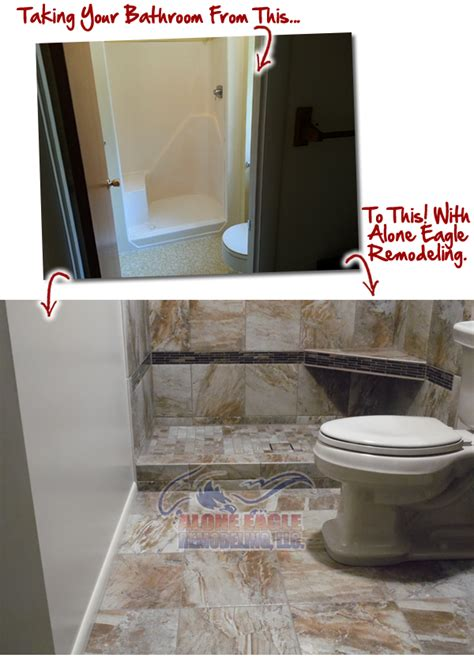 bathroom remodeling contractor alone eagle remodeling