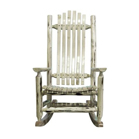 rustic rocking chair kit montana woodworks ready to finish patio log rocker chair