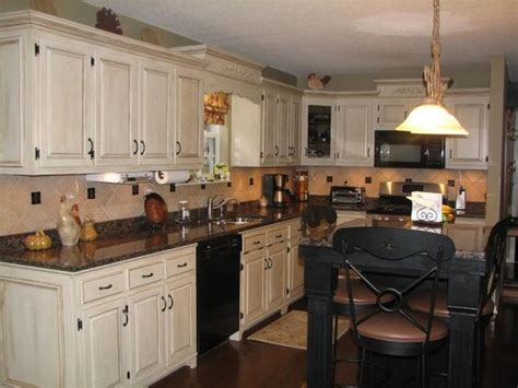 gardenweb kitchen cabinets white speckle countertops with black appliances pics of