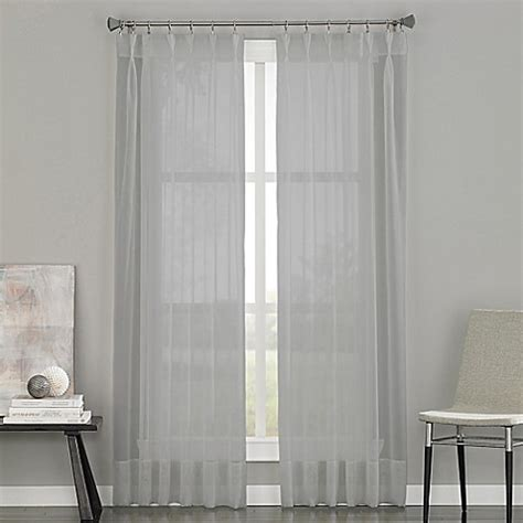 108 inch pinch pleat curtains buy soho voile pinch pleat 108 inch rod pocket window