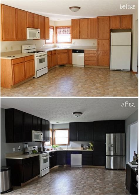 Diy Staining Kitchen Cabinets Gel Stain Kitchen Cabinet Makeover