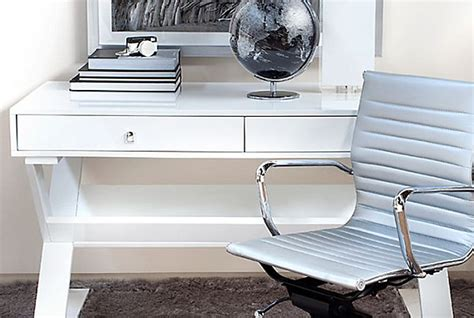 White Lacquer Desk by 20 Stylish Home Office Computer Desks