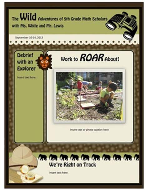 Safari Jungle And Monkey Theme Class Newsletter Elementary Or Middle Teacherspayteachers Com Monkey Newsletter Template