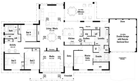 floor plan friday  modern country manor