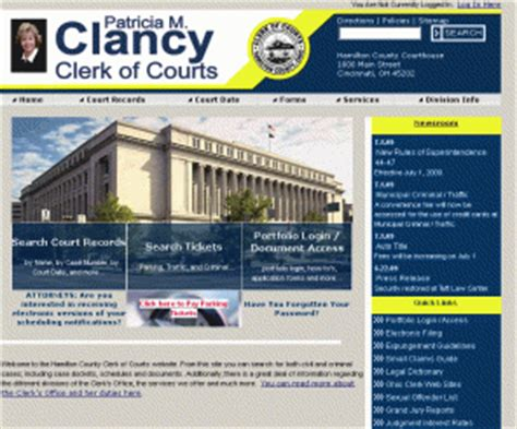 Hamilton County Criminal Court Records Courtclerk Org M Clancy Clerk Of Courts