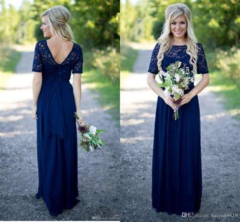 Bridesmaid Dresses Uk Sleeve - 2017 country bridesmaid dresses for weddings navy
