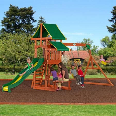 Backyard Discovery Cedar Swing Set Backyard Discovery Tucson Cedar Wooden Swing Set For 399