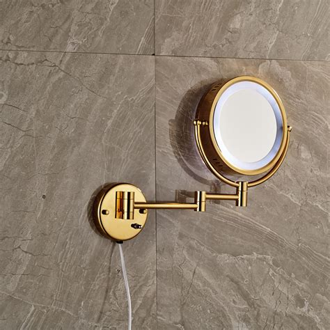 wall mount bathroom cosmetic mirror round magnifying round wall mounted bathroom magnifying mirror led light