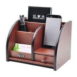 Desk Stationery Organizer Wooden High Grade Multifunctional Desk Stationery Organizer Storage Box Pen Pencil Box Holder