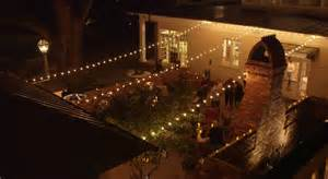 permanent outdoor string lights 1000 ideas about bistro lights on event