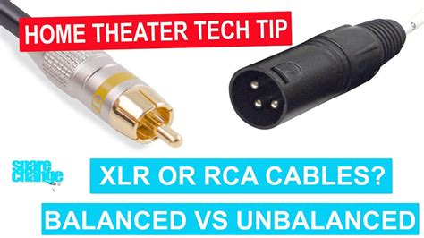xlr  rca cables  home theater