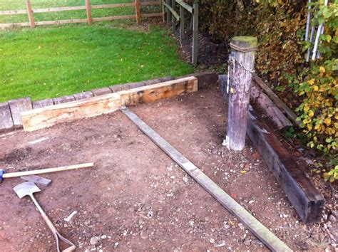 New Sleepers New Oak Railway Sleeper Raised Beds